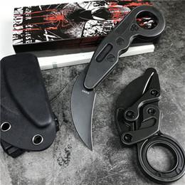 Nueva llegada de gama alta Caswell Tactical Knives Karambit M390 Black Stone Wash Blade Mango de acero inoxidable EDC Navajas de bolsillo Regalo de Navidad desde fabricantes