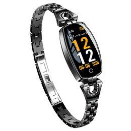 H8 Smartwatch Women Smart Wristband Fitness Bracelet Blood Pressure Heart Rate Monitor Pedometer Smart Band Best Gift for Lady cheap h8 smart band от Поставщики h8 смарт группа