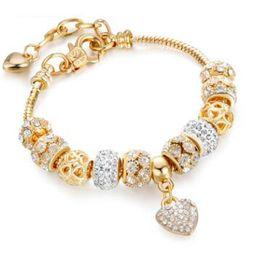 bangle bianco giadeite Sconti 18 19 CM Bracciali per donna di design di lusso con perline in argento Bracciali in stile Pandora come regalo Accessori per gioielli da sposa Vendita calda