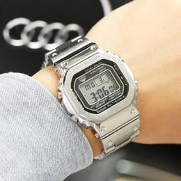 2019 relojes estilo g shock Moda deporte marca para hombre relojes todo el metal de acero inoxidable estilo G 20Bar reloj impermeable reloj gmw 5000B reloj de movimiento de cuarzo rebajas relojes estilo g shock