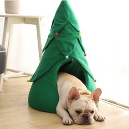 Remarkable Christmas Pet Hot Dog Cats Bed Cushion Removable Cozy Kitty Cave Kennel Puppy Nest Tent For Dog And Cat Comfortable House Cave Inzonedesignstudio Interior Chair Design Inzonedesignstudiocom