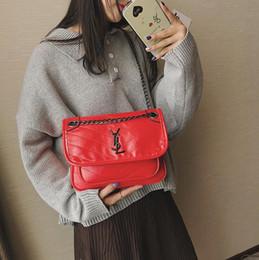 Имитация плечевой сумки онлайн-Самый горячий бренд дамы ромбическая цепочка сумка дизайнер европейский и американский имитация овчины сумка мода качество бесплатная доставка