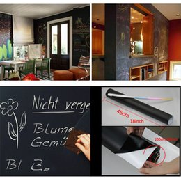blackboard chalk stickers Promo Codes - Removable Chalkboard Wall Stickers Blackboard Extra Large Decal Wall Sticker Peel and Stick Vinyl PVC With Chalks Mini Portable VT0206