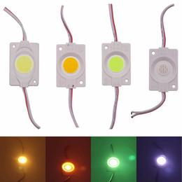 Luces de tira llevadas de la mazorca online-Ultra brillante COB 2.4W LED Módulo luz Tira Luz Publicidad Luz DC 12V iluminación Impermeable Signos Retroiluminaciones