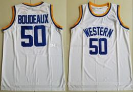 Camiseta de baloncesto estilo libre online-Nuevo estilo de neón 50 Shaq Boudeaux Universidad de New Men Baloncesto occidental película camisetas del equipo de la universidad Color Blanco Deporte cosido envío