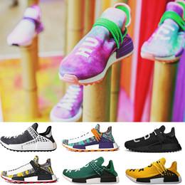 8b3af6f4c Human Race Hu trail Mens running shoes Solar pack White black Pharrell  Williams NMD trainers women sport runner designer sneakers US 5-12