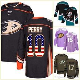 laranjas cancro Desconto Mens Crianças 25th Custom Qualquer Nome Qualquer Número Laranja Roxo EUA Bandeira Lutas Cura Prática Saudação 100th Anaheim Ducks Hockey Jerseys