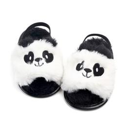 padrão de sapato de bebê sem molas Desconto Lindo Bebê Chinelos Sandálias Padrão Animal Da Criança Infantil Crianças Do Bebê Meninas Sapatos Fofo Pele Macia Solas Macias Crib Anti-slip Shoes