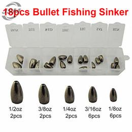 5pcs 100/% Tungsten Bullet Fishing Sinker Worm Inline Weights Casting Sinkers