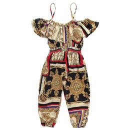 2019 nuovi bambini vestiti estivi ragazze bretelle stampa di moda ragazze bretelle bretelle ragazze pantaloni bambini pantaloni per bambini abiti firmati A5592 da grossisti per abbigliamento boutique per bambini fornitori