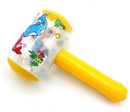 bater brinquedos de madeira Desconto Brinquedos martelando inflável martelos de brinquedo inflável dos desenhos animados martelo pvc martelo / inflável crianças brinquedo do jogo brinquedos infláveis
