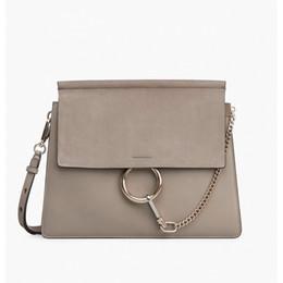 bolsos de cuero de diseño gris Rebajas Bolsos de diseño bolsos de lujo de las mujeres de la cartera bolso famoso de las mujeres de alta calidad bolsa de bandolera bolso de cuero de la vendimia bolso gris C113