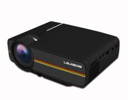 mini levou 3d projector de bolso Desconto Novo Mini Projetor Display de Sincronismo Com Fio 4k digital YG400 Mais estável do que WIFI Beamer Para Home Theater Filme AC3 HDMI VGA USB 1 pcs DHL