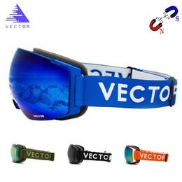2019 capacetes de snowboard OTG Óculos de Esqui de Lente Magnética Intercambiável Camadas Duplas UV400 Anti-fog Snowboard Snowboard Homens Mulheres Óculos Capacete Compatibilidade desconto capacetes de snowboard