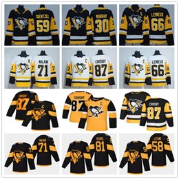 Pullover donna online-Giovanili Mens Lady Pittsburgh Penguins Sidney Crosby 87 Mario Lemieux Evgeni Malkin Letang Phil Kessel Guentzel Matt Murray bambini Hockey maglie