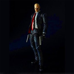 assassin figures Coupons - Play Arts Hitman Assassin Game Anime Figure Action Figures Collectible Moble Hot Toys Birthdays Gifts Doll New Arrvial Hot Sale