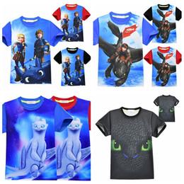 2019 desenhos animados do filme da menina Impressão 3D T-Shirt Como o Seu Dragão 3 Mangas Curtas Meninos filme Dragon T Shirt Dos Desenhos Animados Do Bebê Da Menina Tops 100 pcs AAA1882 desconto desenhos animados do filme da menina