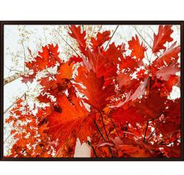 5D fai da te paesaggio foglie di acero rosso pieno di pittura diamante kit punto croce oltre foratura decorazione della casa da