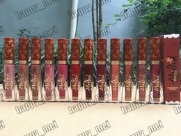 nackter lippenstift geben verschiffen frei Rabatt Fabrik Direkt DHL Freies Verschiffen Neue Make-Up Lippen Geschmolzen Matt Flüssiger Lippenstift 7 ml Gingenarfad Scenked Nude Lipgloss! 12 Verschiedene Farben