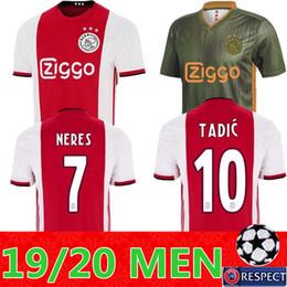 34e934587c8 2019 2020 Ajax FC Soccer Jerseys home men kit 19 20 Customized  7 NERES    10 TADIC  4 DE LIGT  22 ZIYECH Football Shirt