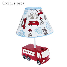 red resin lamp Promo Codes - Creative cartoon red car desk lamp boy bedroom children's room lamp modern simple resin automobile desk free shipping