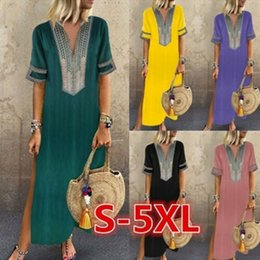Wholesale plus size boho cotton dresses Group Buy Cheap