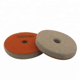 tools for marble Coupons - 20 Pieces Abrasive Polishing Tools 3 Inch 4 Inch Sponge Polishing Pads Diamond Flexible Wet Polishing Disc for Granite Marble Floor