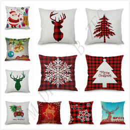 trees decor Coupons - 202 Designs Pillow Case Santa Claus Christmas Tree Snowman Elk Pillow Case Colorful Pillow Cover Home Sofa Car Decor 45*45cm Pillowcase