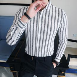 3a19b632e3a5c14 2019 молодежные мужские рубашки Новое Прибытие Мода Британский Стиль Рубашки  Мужчины С Длинным Рукавом Slim Fit