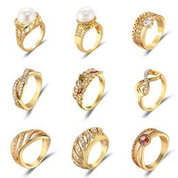 2019 viennois klingelt Viennois New Gold Farbe Metallic Ring Für Frauen Simulierte Perle Gedreht Zirkon Weiblichen Finger Schmuck 2019 rabatt viennois klingelt