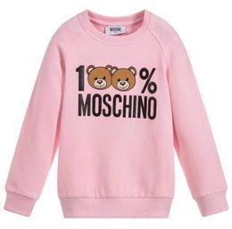 tela para niños de marca Rebajas Sudadera de diseño para niños Cute Bear Pattern Girls Pullovers Active Letters Boys Hoodies Brand Kids Clothes Wholesale 2020 Spring New