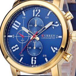 2019 curren marke für uhr Curren Männer Sport Quarz Uhren Herrenuhren Top-Marke Luxus Leder Armbanduhren Relogio Masculino Männer Curren Uhren 8192 rabatt curren marke für uhr