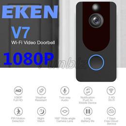 Smart home packages on-line-EKEN V7 1080 P Sem Fio Inteligente Home Video Visual Intercom Doorbell Camera Cloud armazenamento de Visão Noturna PIR Detecção De Movimento Com Pacote de Varejo