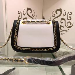 bolsos de cuero de marca azul Rebajas Nuevos bolsos de lujo de diseñador, cadena de cuero genuino, bandolera de calidad superior para mujer, bolsos de hombro, negro azul beige, colores blancos