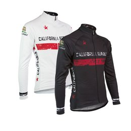 2019 ropa de california 2019 California ciclismo jersey hombres manga larga negro invierno polar o delgada nueva ropa de ciclismo blanco bicicleta ropa ropa de california baratos