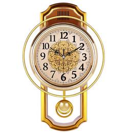 Pendolo orologio online-Orologio a pendolo Vintage parete per la casa silenziosa Products Clock Shabby Chic Reloj Pared Grande Home Decor