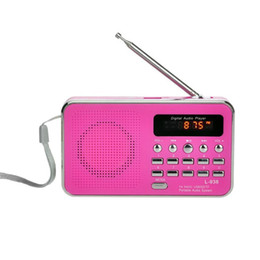 3w player en Ligne-Mini portable avec antenne radio FM AUX 1.0 Haut-parleur MP3 4 cartes TF 32 Go, cartes SD 3W Player 87,5-108 MHz 2-4H