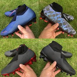 2019 botas de coco chuteiras de futebol de luxo Fantasma easports VSN Elite DF FG Botas de Futebol PSG lux preto sapatos de futebol homens totalmente carregadas esportes 39-45