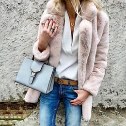veste da pele do falso transporte livre Desconto Mulheres Plus Size Casual Brasão Faux Fur Outono Inverno senhoras elegantes Quente Soft Pink Outwear Oversize Jacket New Fashion