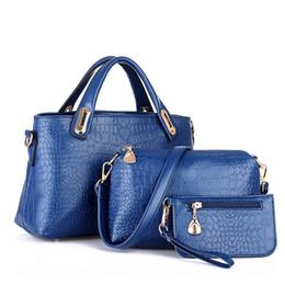 2019 handtaschen-sets Heiße Frauen Handtaschen Sets Pu-leder Handtasche Frauen Messenger Bags Design Damen Tasche Handtasche + umhängetasche + geldbörse 3 Sätze günstig handtaschen-sets