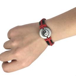 Braccialetto in pelle punk stile cinese yin yang tai chi otto trigrams regolabile pelle bovina braccialetti per le donne uomini amicizia gioielli hot cheap yin yang bracelets da yin yang bracciali fornitori