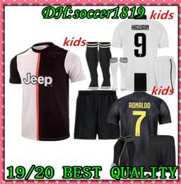2019 fato de treino ibrahimovic 19 20 RONALDO JUVENTUS DYBALA HIGUAIN crianças kit camisa de futebol 2019-20 juve MARCHISIO MANDZUKIC CHIELLINI BUFFON criança camisa de Futebol uniforme