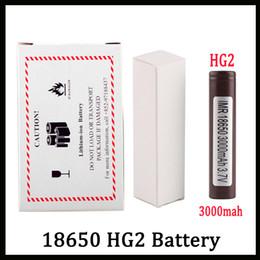 Литий для батарей онлайн-100% Высокое Качество HG2 18650 Батарея С 3000 мАч 35А МАКС. Аккумуляторная Литиевая Батарея Для LG Cells Fit Vape Box Mod FEDEX UPS Доставка