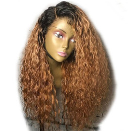 lace wig silky straight 1b Coupons - Lace Front Human Hair Wigs Brazilian Deep Wave Human Hair Wigs With Baby Hair 1B 30 Brown Ombre Wig Free Shipping