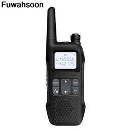 Radios gmrs online-2pcs Baofeng Mini walkie talkie portátil de radio CB R8 2 vías de radio Walky Talky Emisoras Boafeng jamón Comunicador FRS GMRS