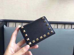 Perçin cüzdan Fransa Japonya Tarzı Kadın Para Klip Lüks Hakiki Deri Cüzdan Erkek Kadın kısa Cüzdan Para Tutucu KUTUSU nereden