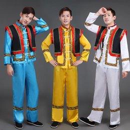 Increíble traje de baile minoritario 2019 para hombres Trajes de baile nacional Festival Rendimiento Carnaval Miao Ropa desde fabricantes