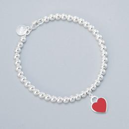 Canada 2019 en argent sterling émaillé bleu en forme de coeur rond avec bracelet en perles de Bouddha orné de femmes cheap beaded ornament Offre