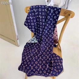 tartán bufanda de doble cara Rebajas Diseñador Mujer Alta calidad Otoño invierno 100% bufanda de cachemira Bufanda suave de Lamé Chal largo de lujo grueso doble cara Impresión en color cachemira
