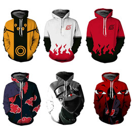 2019 xxxl naruto cosplay Impressão 3D Primavera Outono Zíper Hoodies Unisex Camisola Naruto série Traje Cosplay Halloween Casual Com Capuz Tops Trajes xxxl naruto cosplay barato
